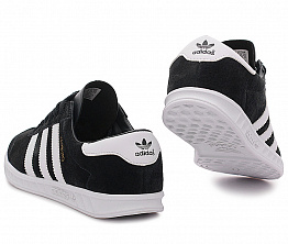 Кроссовки Adidas Hamburg Suede Black / White